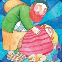 A tradicional figura do gigante carvoeiro que cuida das crianças e traz presentes.